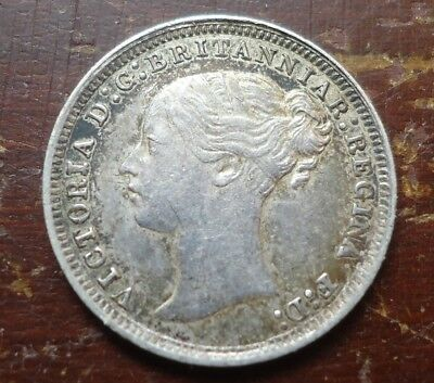 Great Britain - 1875 Three Pence 3d - Queen Victoria - Nice One