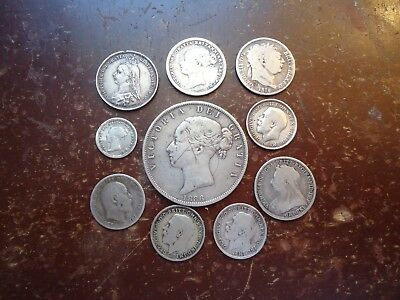 Great Britain - Silver Coin Lot - George III - George V