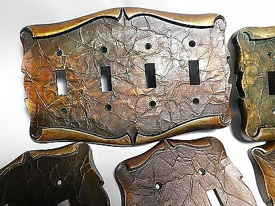 Vintage Cast Brass Scroll Single & Double-Switch Plates, Outlet Covers