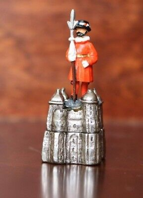 Pewter Thimble Tower Guard - Made In England