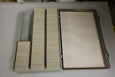 Lot of ~550 original slides of freight and passenger cars mostly from the 1970's