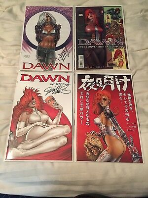 Lot Of 4 Dawn Comics Books- 3 Of 4 Signed- Limited Editions- Linsner 2,5,6 Etc