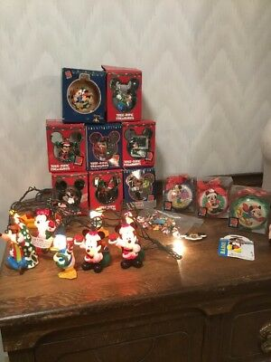 Lot of 16 Pieces Disney Mickey Mouse  Ornament Christmas, Pins, Key Chain