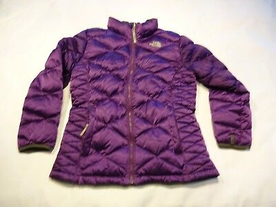 Girls THE NORTH FACE Down Winter Puffer Jacket Size XL 18, Purple Quilted, Coat