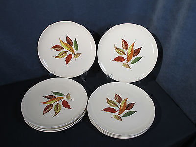 Dinner Plate Vtg Universal Pottery Princess China Autumn Leaf Set of 10