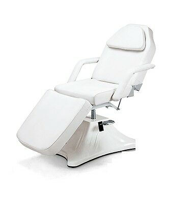Hydraulic Adjustable Massage Bed Table Pedicure Seat Salon Facial Bed White