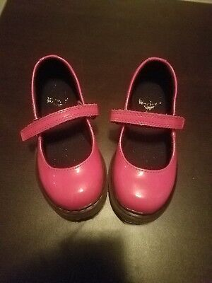 Dr Marten TULLY Pink Patent Leather Mary Jane Shoes Little Girls Size 9 (US)