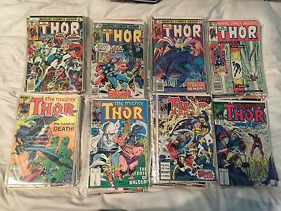 The Mighty Thor Lot Of 76 Comics- 234-392 - Marvel Bronzne And Copper Age Lot