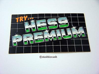 Hess Premium Gasoline Advertising Card from the 1990s - Very Rare