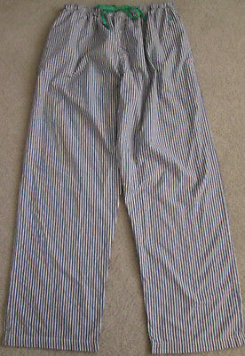 Mens Polo Ralph Lauren Blue Striped Pajama Pants/Sleepwear Bottoms - Size M
