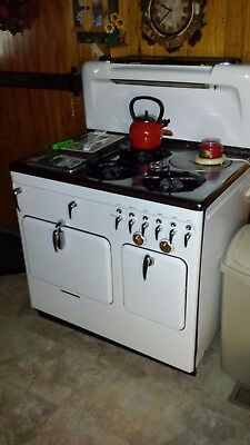 Chambers gas stove, vintage working model