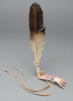 Native American Plains Roach Spreader, bone, Pow Wow, Eagle feather...RARE