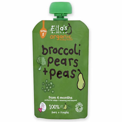 Ellas Kitchen Broccoli Pear & Pea Stage 1 | 120g x 7 | Multipack & Bundles