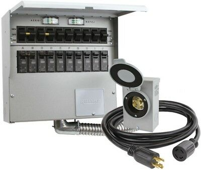 Reliance Controls 10-Circuit 30 Amp Manual Transfer Switch Kit