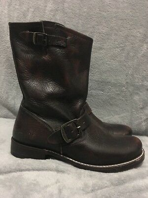 Women's Frye 'Veronica Slouch' Shortie Leather Boots - Brown - Size 7.5