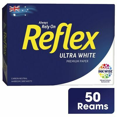 Reflex Ultra A4 Paper White 500 Sheet(50 Reams) x 50
