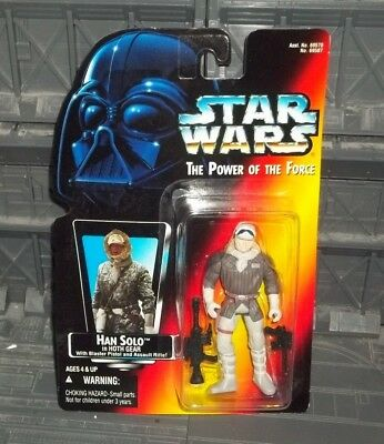 Star Wars Potf Power Of Force Red Orange Card Hoth Gear Han Solo Figure