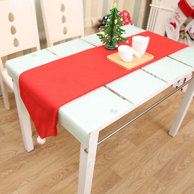 Christmas Flag Table Runner Snowflake Decor Festive Party Xmas Mat Dining
