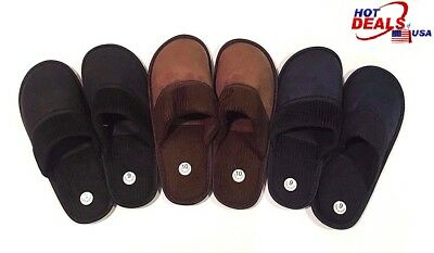 Men Classic PU House Slipper with Rubber Bottom Excellent Flexibility Multi-Size