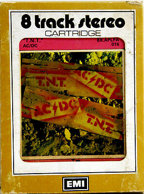 AC DC TNT Extremely Rare 8 TRACK TAPE  CARTRIDGE