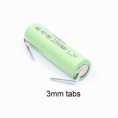Braun Oral B 3000 3756 toothbrushes Battery 1.2V AA 2200mAh Ni-MH tabs  49x 14mm