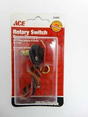 NEW Ace 33498 Rotary Switch Brass Canopy OFF/ON/ON/ON 2 Circuit Fixtures Lamps
