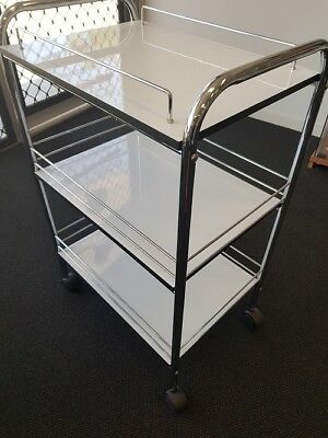 Stainless Steel Trolley Storage Salon Supplies Beauty Lashes Hairdressing