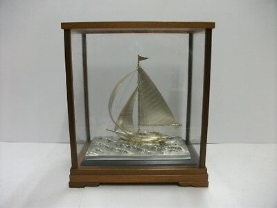 The sailboat of Silver970 of Japan. #79g/ 2.78oz. Japanese antique.