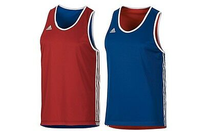 Adidas Boxing Singlet - Reversible Red & Blue Singlet AIBA reversible boxing