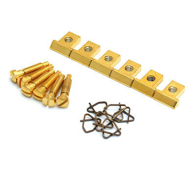 Gold Saddles for Pre-2001 Gibson® Nashville Tune-O-Matic Bridge BP-0305-002