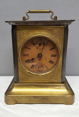 Antique German Carriage Clock with Musical Alarm