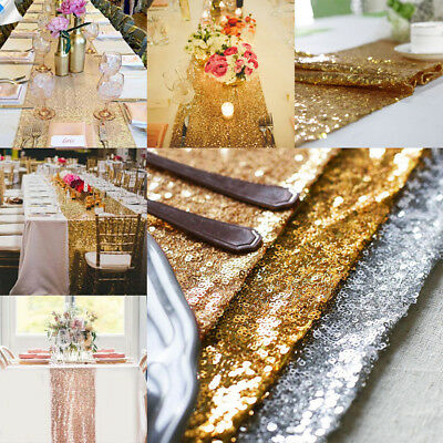Glitter Sequin Table Runner Tablecloth Sparkly Wedding Party Decoration 30X275cm