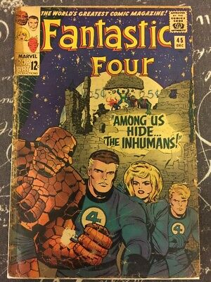 Fantastic Four 45 1st Appearance Of Inhumans