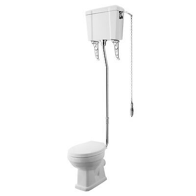 Carlton Traditional High Level Toilet Pan Cistern & Luxury Soft Close Seat
