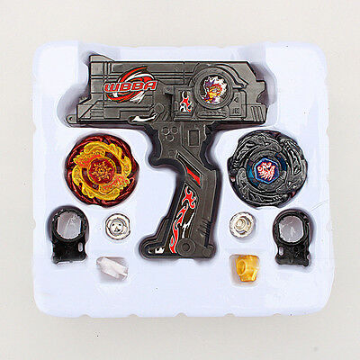 Beyblade Metall Master Fusion TOP Rapidity Fight Doppel Ranger + 2 Spielzeug