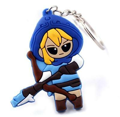 The Legend of Zelda Link Silicone Rubber Keychain Key Ring KeyRing Pendant gift