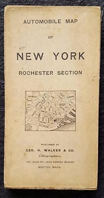 1908 Automobile Map of Rochester Section, New York - Geo. H. Walker Lith, Boston