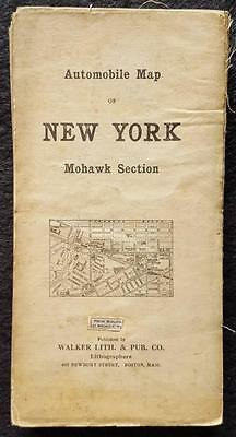 1907 Automobile Map, Mohawk Section of New York - Geo. H. Walker Lith, Boston,MA