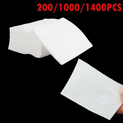 1000PCS Nail Art UV Gel Polish Remover Cleaner White Cotton Wipes Pads LInt Free