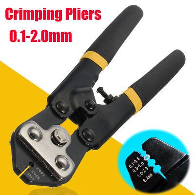 0.1-2.0mm Crimping Wire Rope Pliers End Ferrules Connector Hand Swager Crimper