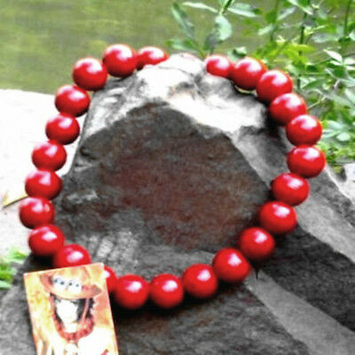 One Piece Portgas D Ace Cosplay Accessory Necklace Fire Fist Wooden Beads Gift A