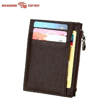 RFID Minimalist Slim Wallets - Credit Card Holder Front Pocket Wallet for Men