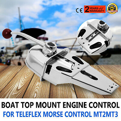 Marine Boat Engine Control Built-In Friction Zinc Alloy Single Lever Handle