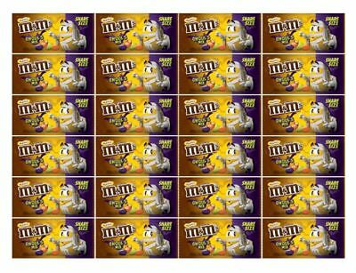 911947 BOX OF 24 x 92.7g SHARE SIZED BAGS OF M&MS PEANUT CANDIES GHOULS MIX