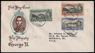 1938 First Day Ascension Cover to USA . E1878