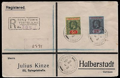1914 Virgin Islands Registered cover to Germany. E1873