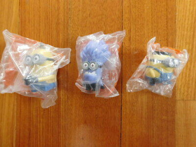 Despicable Me 2 Minions McDonalds Happy Meal Toys TIM JERRY PURPLE Minion
