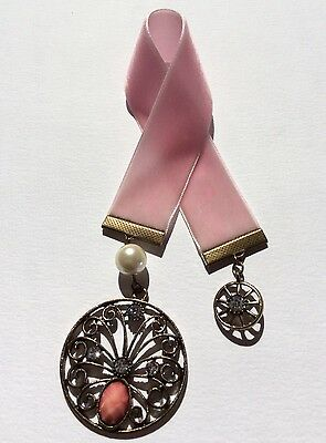 Pretty Light Pink Velvet Ribbon Bookmark, Handmade in Australia, Lovely Gift