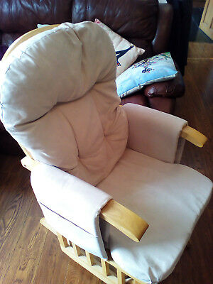 nursery rocking chair with positionable back