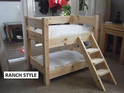 Cutest  Cat Or  Dog  Bunk Beds (Solid Pine) Standard Size Or Custom Made Sizes